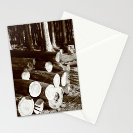 Stacked logs Stationery Cards