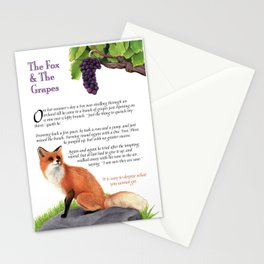 The Fox and the Grapes Stationery Cards