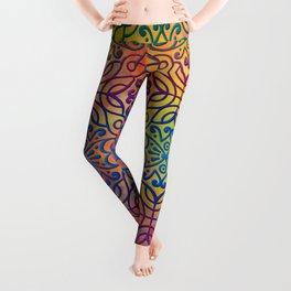 DP050-1 Colorful Moroccan pattern Leggings