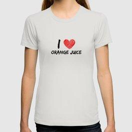 I Love Orange Juice T-shirt