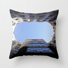 Barcelona Photography - Casa Mila La Pedrera Throw Pillow