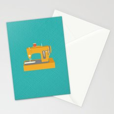 Sewing Machine Yellow Stationery Cards