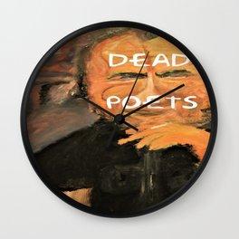 Bukowski, Dead Poets Art Wall Clock