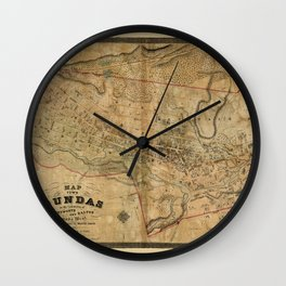 Map Of Dundas 1851 Wall Clock