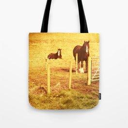 Vintage Horses Tote Bag