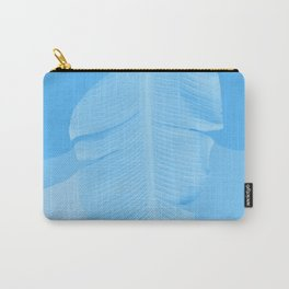 Tropical Banana Leave Pastel Blue Ombre Design Carry-All Pouch