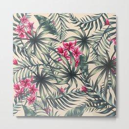 Tropical leave pattern 9 Metal Print