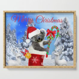 Baby Koala Christmas Cheer Serving Tray