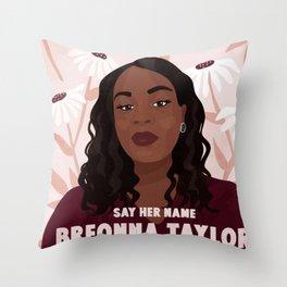 say her name Throw Pillow