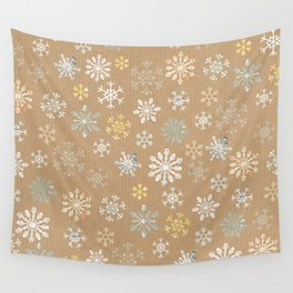snow flakes pattern Wall Tapestry