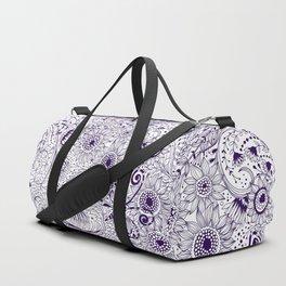 Floral doodles Duffle Bag