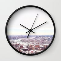 pittsburgh Wall Clocks featuring Ice Pittsburgh by clairemac