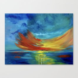 Sunset Over Hawaii Canvas Print