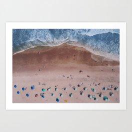 Beach Print, Contemporary Beach, Aerial Beach Art Print