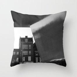 Loving walk in Amsterdam Throw Pillow