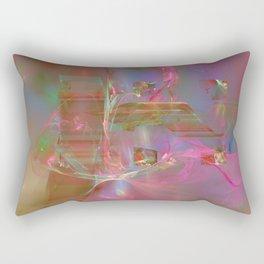 swimming in space Rectangular Pillow
