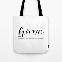 Home Quote Definition Tote Bag