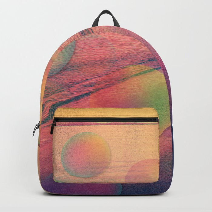 Colorful Summer Dream (California Beach in Rainbow Colors) Backpack