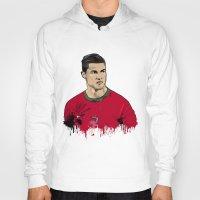 ronaldo Hoodies featuring Cristiano Ronaldo by J Maldonado