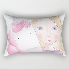 Unicorn love Rectangular Pillow