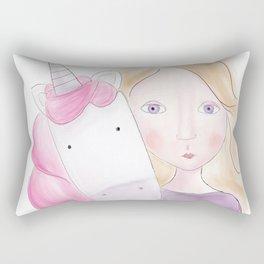 Unicorn love Rectangular Pillow