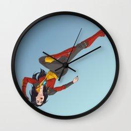 BADASS WOMAN Wall Clock