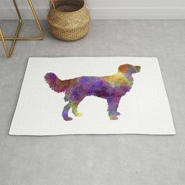 Drentsche Partridge Dog in watercolor Rug
