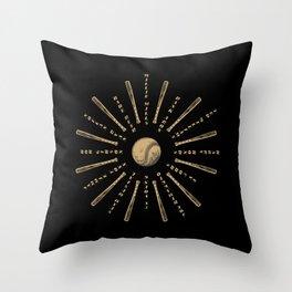 Historic baseball players mandala Throw Pillow