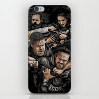 sons of anarchy iPhone & iPod Skins featuring Sons of Anarchy-War by Denis O'Sullivan