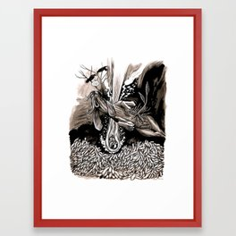 A dream of plague dogs Framed Art Print