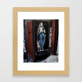 Saint in a vending machine 2. 2009.  Framed Art Print