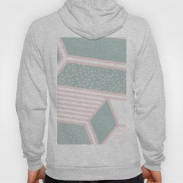 Modern Memphis Illustration - Gemetrical  Retro Art in Pink and Mint -  Mix & Match With Simplicity Hoody
