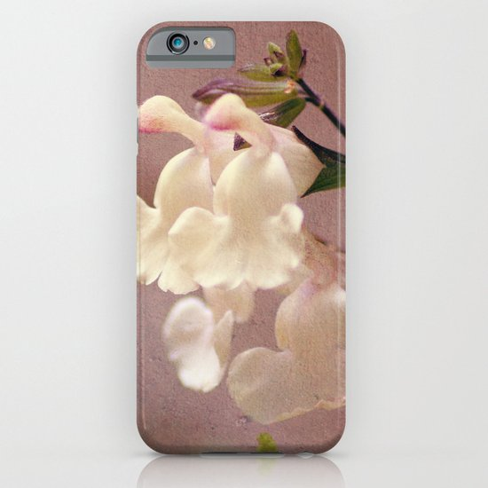 White flower and texture iPhone & iPod Case
