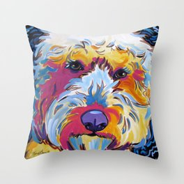 Sunshine the Goldendoodle Throw Pillow