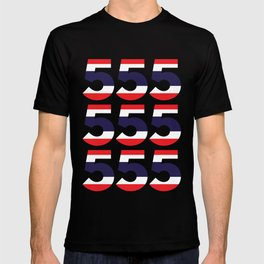 555  Thai flag T-shirt