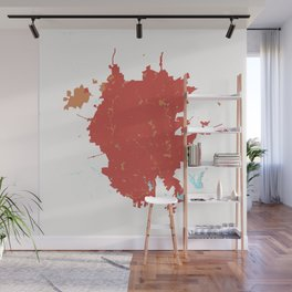 San Antonio Texas Minimalist Map (Peach) Wall Mural