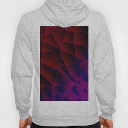 Abstract strict pattern of burgundy and overlapping purple triangles and irregularly shaped lines. Hoody