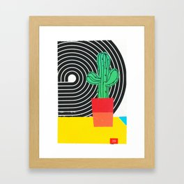 Colorblock Cactus Framed Art Print