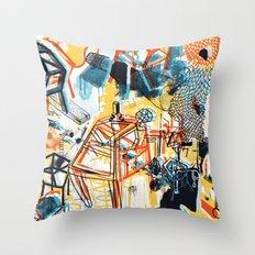 yellowredblueandblack Throw Pillow