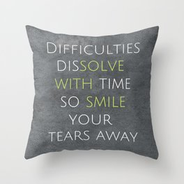Solve with Smile   Quote Throw Pillow