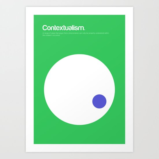 Contextualism Art Print