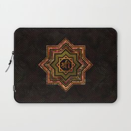 Red Gemstone and gold  Star of Lakshmi -  and Sri Laptop Sleeve