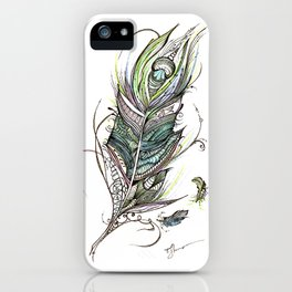 Ink Feathers iPhone Case