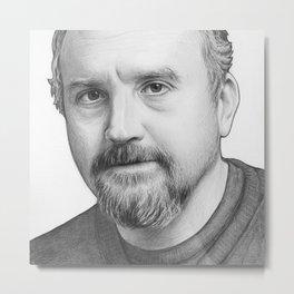 Louis CK Portrait Metal Print