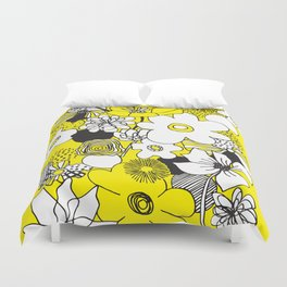 Floral Medley - Yellow Duvet Cover