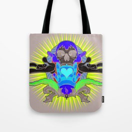 No More Happy Face Tote Bag