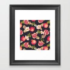 Pomegranate patterns - floral roses fruit nature elegant pattern Framed Art Print