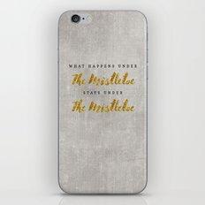 What Happens under The Mistletoe iPhone & iPod Skin