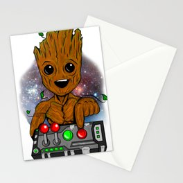 Baby tree don't push that button Stationery Cards