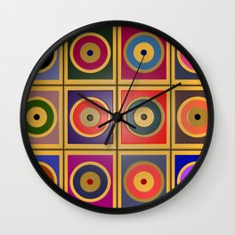Rectangles & Circles #3 Wall Clock